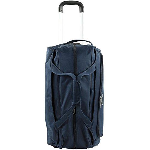 D & N Reisetrolley Reisetasche Fitness Sport Sauna Tasche Trolley Polyester Blau 7713 Bowatex