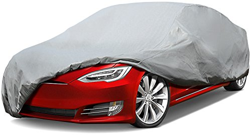 Leader Accessories Platinum Guard Gray 7 Layer Super Soft Car Cover with Cotton Outdoor Protect Against Scratch Cars up to 200'' ()