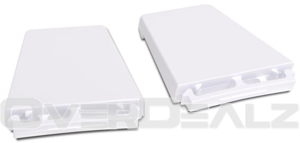 Refrigerator or Freezer Door Shelf End Cap Kit (Set of 2) New OEM Whirlpool Model: