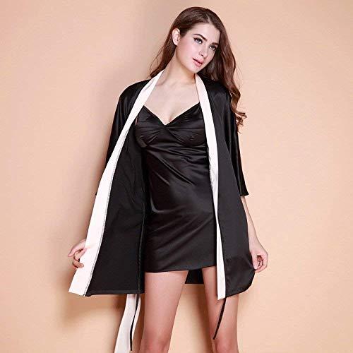 Camisón cuello V Con Bandage Colour 4 Mangas Vestido Mujer Moda Dormir De 3 Lazo Albornoz Camisones Fashionista v6wpfqw