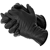 Nitrile Black Gloves-Box of (Small)100Pc,100% latex,protein,powder free,For Safe hands,no skin irritation,easier grip