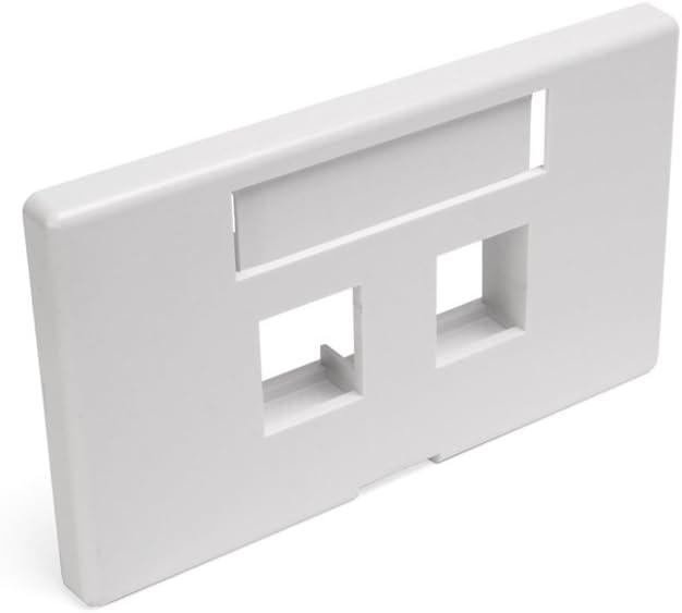 Leviton 49910-HW2 2-Port QuickPort Modular Furniture Faceplate (Herman Miller), White