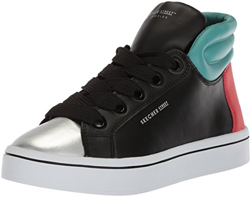 Skechers Poppers Sneaker a Nero Hi Block Alto Collo lites Black Donna xRUnR