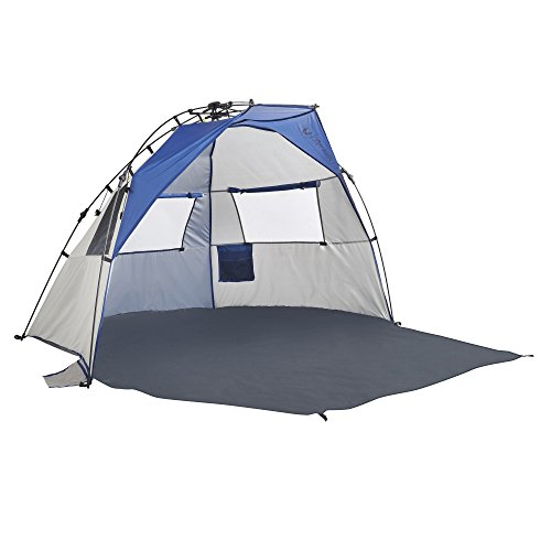 Lightspeed Outdoors Quick Cabana Beach Tent Sun Shelter, Blue (Outdoor Cabana)
