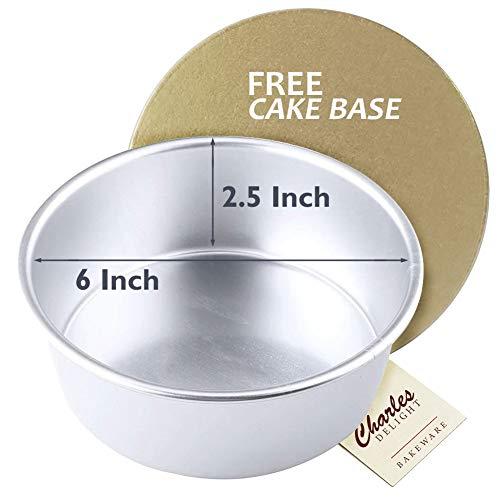 Aluminium Cake Mold Round (6 inch x 2.5 inch) + Free Cake Base Price & Reviews