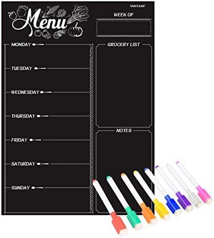 Magnetic Refrigerator Chalkboard Shopping 16inchx12inch product image