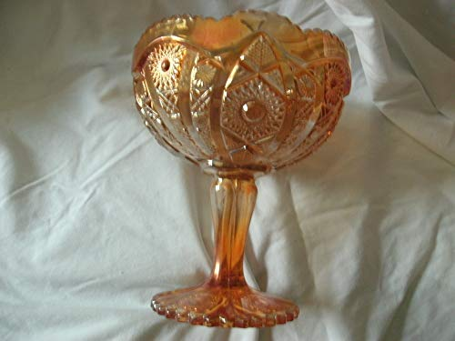 Vintage Imperial Glass Carnival Glass Marigold Hobstar & Arches ()