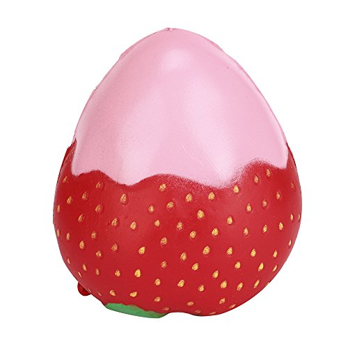 ️ Yu2d ❤️❤️ ️Squeeze Jumbo Stress Stretch Strawberry Cream Scented Slow Rising Toys ()