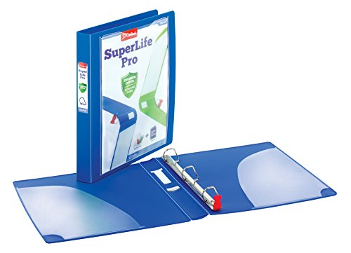 Cardinal SuperLife Pro Easy Open ClearVue Locking Slant-D Ring Binder, 1.5 Inch, Blue (54420) by Cardinal (Image #1)'