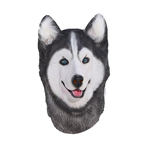 DeemoShop Husky Dog Latex Mask Novelty Costume Party