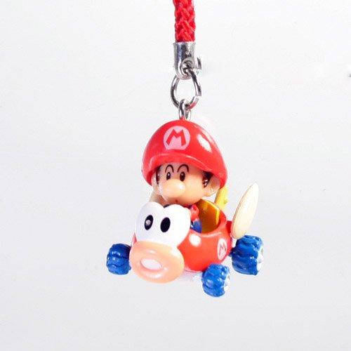 (Mario Kart Wii Baby Mario Kart Keychain - Baby Mario in a Fish Kart)