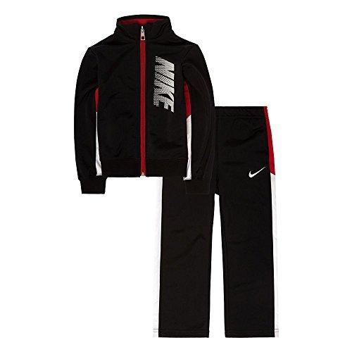 Nike Little Boys' 2-Piece Tricot Tracksuit (Sizes 4 - 7) - black, 4