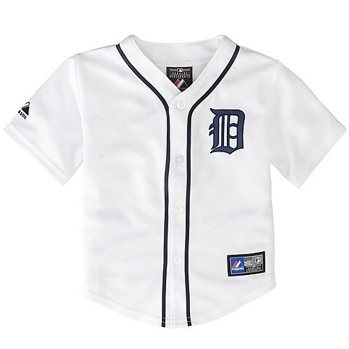 Replica Generic Home Jersey - Detroit Tigers 2014 Toddler Replica Home Jersey by Majestic, White, Toddler 4T