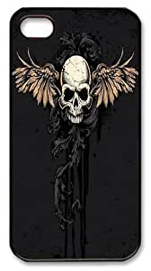 Black skull protector case for iPhone 5s/5s, Custom iphone 5s for kids case