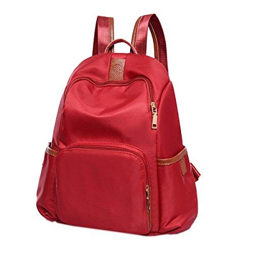 Simples Estudiantes Todo-fósforo Resistente Al Agua Viaje Colorido Mochila Bolsa De Ordenador Portátil Red