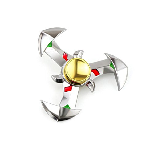 Hand Spinner, DEESEE(TM) Hand Spinner NEW Alloy Tri Fidget Focus Toy EDC Finger Spin Gyro ADHD Autism (Silver)