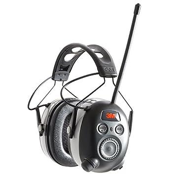 Auriculares de protección auditiva SNR 24 dB con radio digital y Bluetooth ...
