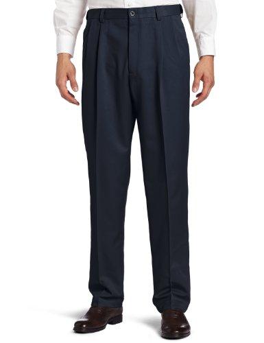 (Haggar Men's Cool 18 Heather Solid Pant - Regular - 42W x 30L - Heather Blue)