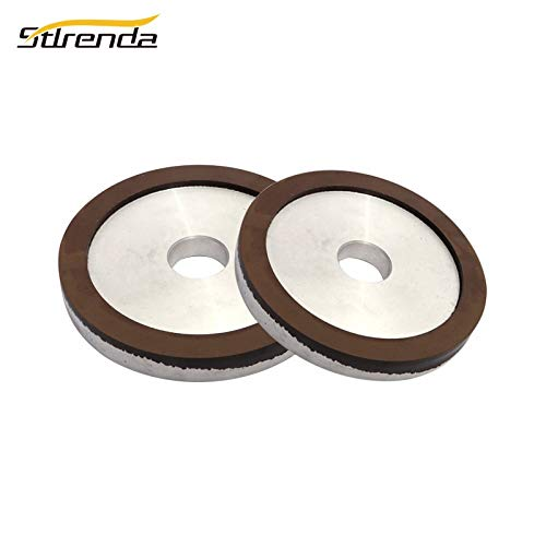 Maslin 150mm Diamond Grinding Wheel Cup Resin 180-3000 Grit Processing for Carbide Tungsten Polishing Hole 20/31.75mm - (Grit: 180, Color: 150x31.75x20x15x4mm) by Maslin (Image #1)
