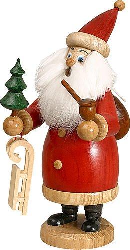 German Incense Smoker Santa Claus red - 20 cm / 8 inches - Drechselwerkstatt ()