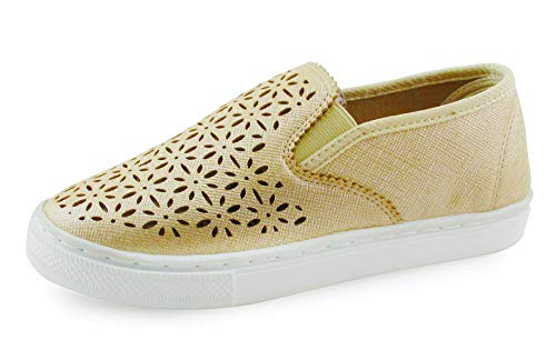 JELLY BEANS Girls Slip On Casual Shoes Sneaker Gold Size - Bean Jelly Girl
