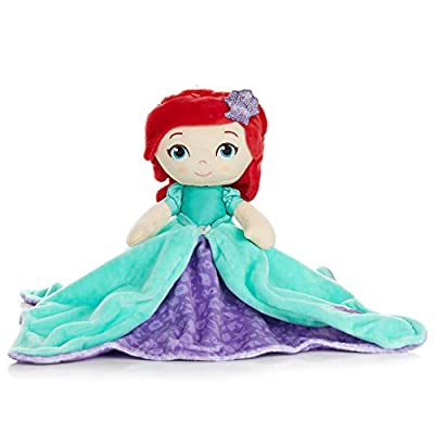 KIDS PREFERRED Disney Baby Ariel Plush Stuffed Animal Snuggler Blanket: Toys & Games