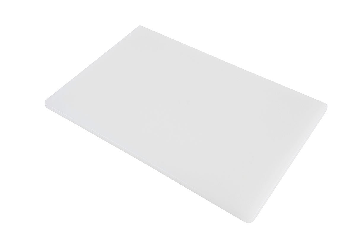 Professional Plastic Cutting Board, HDPE Poly for Restaurants, Dishwasher Safe and BPA Free, 18 x 12 x 0.5 Inches, White