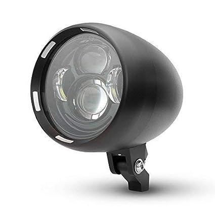 Sigiloso a Medida Moto Proyector LED Faro Aluminio Chopper Cruiser ...