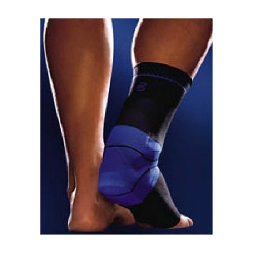 Bauerfeind 11011013070704 Achillotrain Achilles Support, Left, Size 4, 9''-9-7/8'' Circumference, Black/Blue by Bauerfeind