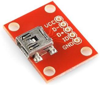 Mini USB Adapter Plate Board Breakout For USB Mini-B Extension 1PC