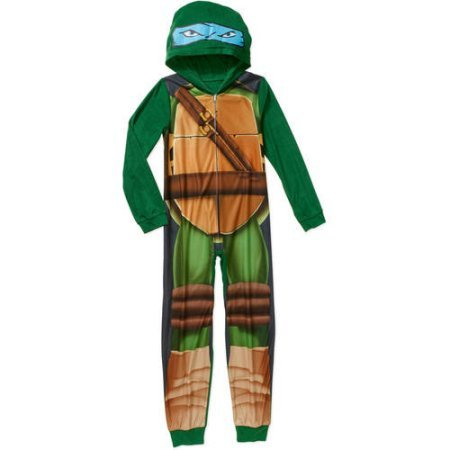 Tmnt Suit (Nickelodeon Teenage Mutant Ninja Turtles Boy's Union Suits Pajamas (Small 6/7))
