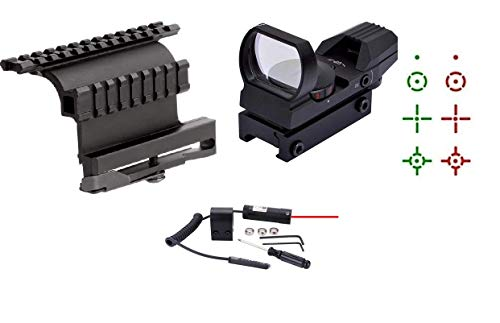 GOTICAL Quick Detach Dual Rail Side Plate Weaver Picatinny Mount 4 Reticle Red Green Special Battle Edition Open Reflex Hunting Scope Sight Red Dot Laser