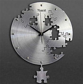 Amazon De Yz Yuan Wanduhren Uhren Standuhren Stumm Puzzle Kunst