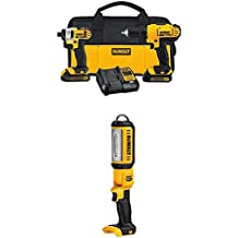 DEWALT DCK240C2 20v Lithium Drill Driver/Impact Combo Kit with 20V Max LED Hand Held Area Light