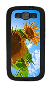 ICORER Custom Samsung Galaxy S3 Cases Sunflowers TPU Black Case Cover for Samsung Galaxy S3 SIII I9300