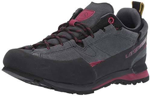 La Sportiva Boulder X Women's Approach Shoe, Carbon/Beet, 37