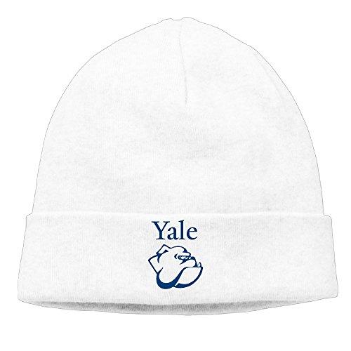 OPUY Unisex Yale University Beanie Cap Hat Ski Hat Cap Skull Cap White