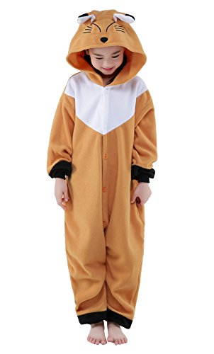 (Newcosplay Unisex Children Fox Pyjamas Halloween Onesie Costume)