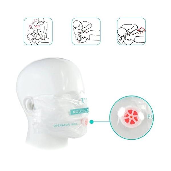 LSIKA-Z Paquete de 10pcs CPR Máscara 3