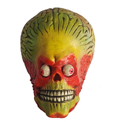 Halloween Mask Scary Alien Brain Cosplay Costume Mars Attacks Martian Soldier