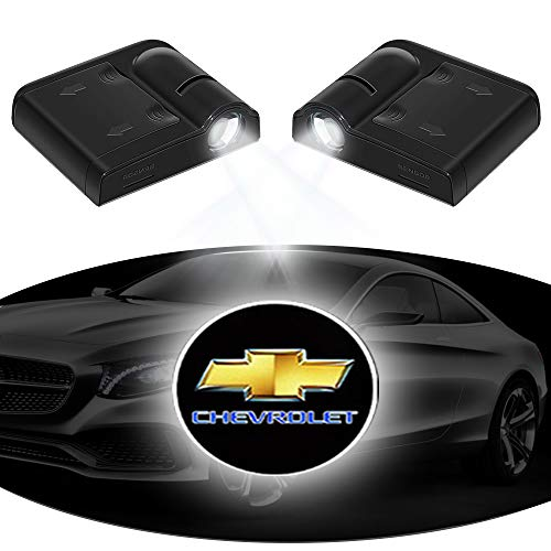 Wireless Car Door Lights Welcome Projector Logo Light, XERGUR Projection LED Light Shadow Ghost Laser Lamp for Chevy, Chevrolet