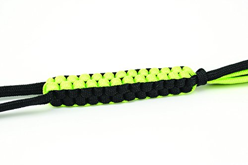 Schrade-SCH550BKGR-Black-and-Green-550-Paracord-Braided-Lanyard