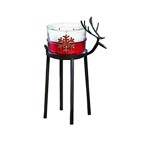 CC Home Furnishings Set of 2 Bronze Christmas Reindeer Pillar Candle Holder 12'' - Large by CC Home Furnishings