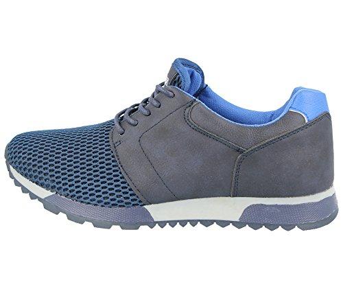 Décontracté Filet Confort Footwear Baskets Léger Homme Sports À Foster De 6–11 En Chaussures Gym Marine Course Maille Bleu Taille Pour Lacets XvCxWwqP