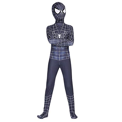 QXMEI Spider-Man Siamese Tights Cosplay Child Adult Steel Anime Cosplay Costume,IronMan-100 ()