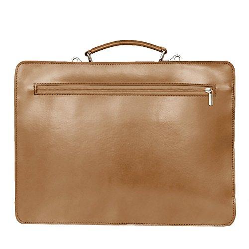 business sac mod bandoulière portable taupe avec Italie cuir ordinateur Fichier de 2027 p UNISEX FqnwRX8nE
