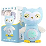 Baby Soothing Sound Machine, Baby Sleep Soother Projector,White Noise Machine Baby Owl Plush Star & Moon Image Projector 15 Baby Music Soothers for Sleep Crib Toys Nursery Baby Gifts.