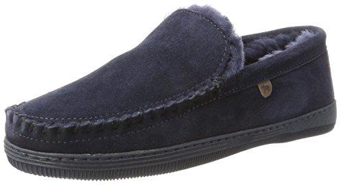 Warmbat Men Grizzly Slippers Blue (Dark Navy 45)