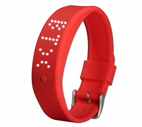 Price comparison product image Advista Sports 2018 New Silicone Smart Watch,  Pedometer for Kids,  Boys and Girls with Bluetooth (Red)
