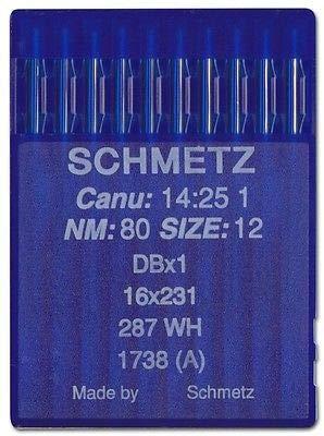 La Canilla ® - 10 Agujas para Máquina de Coser Industrial Schmetz DBx1 1738(A) 16x231 Grosor 80/12 Pistón Redondo: Amazon.es: Hogar